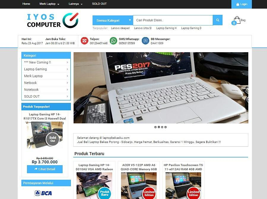 Paket Online Shop TERLARIS